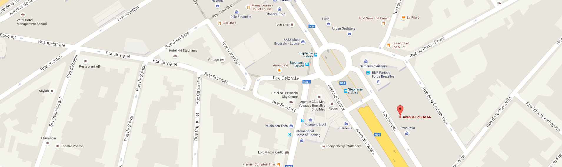 adresse google map